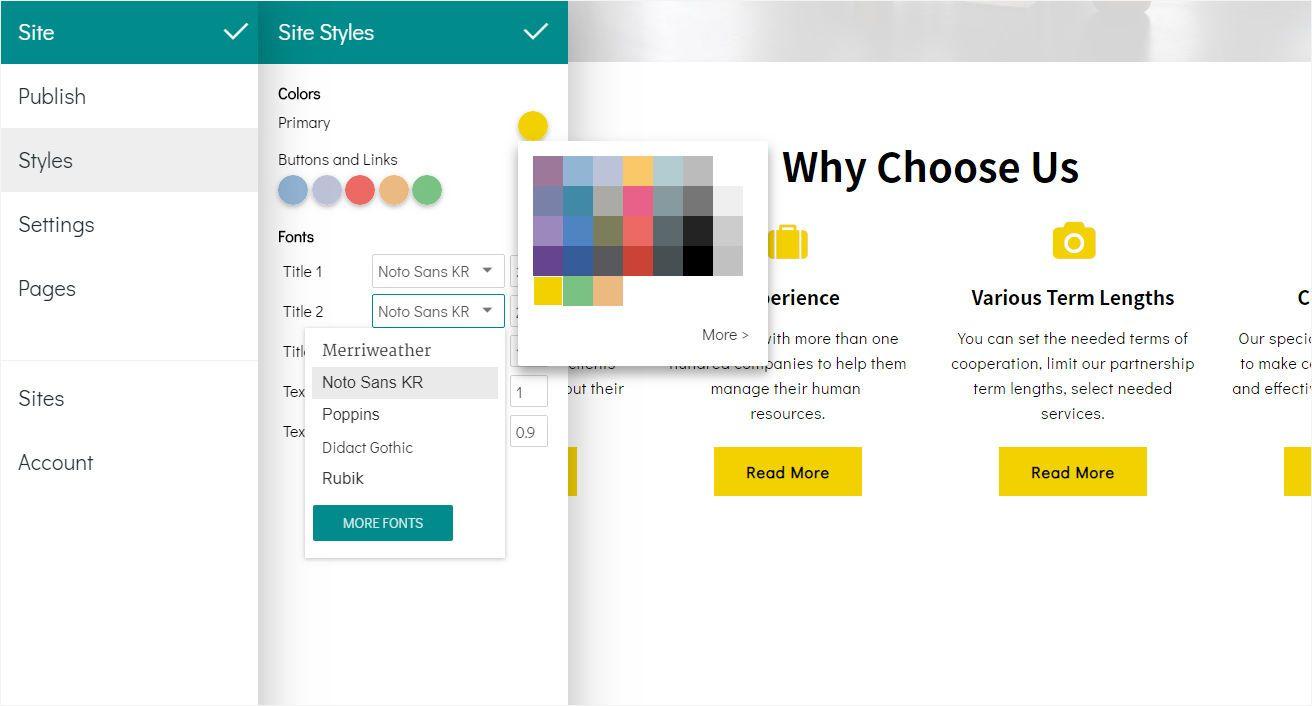 edit site styles in 8b