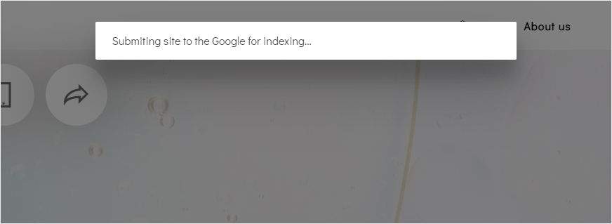 The Site Settings window will be opened. Submit to Google. Click on it to send your website to Google Index.