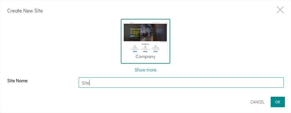 select a template to create your 8b site